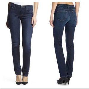 Hudson Tilda Mid-Rise Straight Leg Dark Wash Jeans